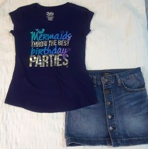 NWOT 7 8 GIRLS POLO & JUSTICE SKIRT LOT